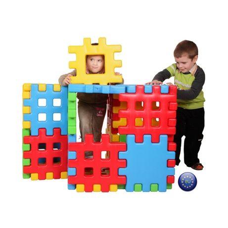 duże super Klocki Edukacyjne Wafle Ogrodzenie Domek