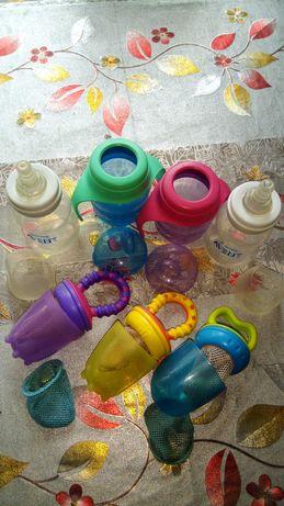 Бутылки с соской,поилки Авент,ниблеры