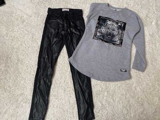 Spodnie ecoskóra i bluza