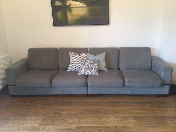 Sofa, kanapa w kolorze szarym