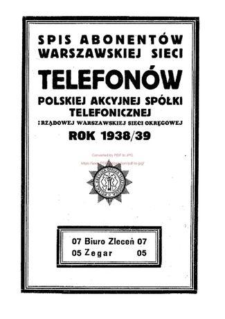 Książka telefoniczna - Warszawa 1939 r.