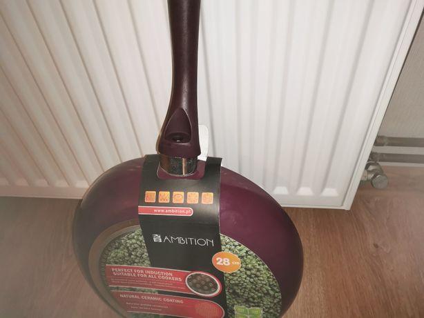 PATELNIA Ceramiczna NOWA średnica 28 cm ODSTĄPIĘ :