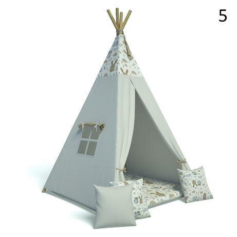 Namiot TiPi Wigwam + 3 szt poduszka + mata