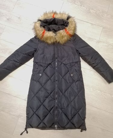 Куртка зимняя, женская, черная, размер S/M