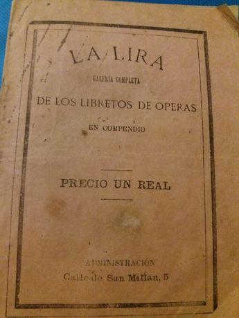 Programa de Opera em Madrid em 1874