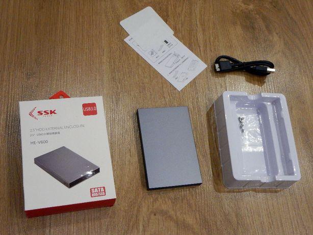 """Корпус, карман SSD ,HDD 2,5"""" SSK HE-V600 Алюминий USB 3.0"""