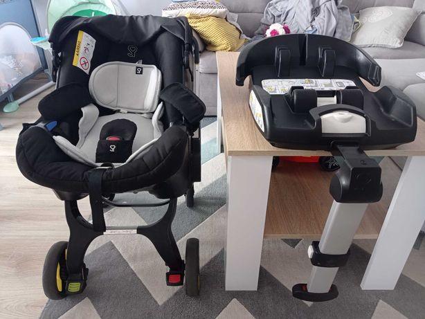 Fotelik - wózek samochodowy Doona z bazą isofix - zestaw