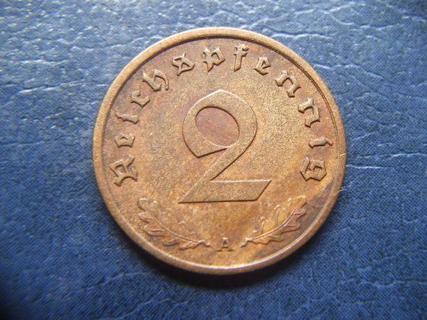 Stare monety 2 reichsfenigi 1939 A Niemcy