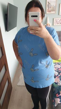 Bluzka T-shirt WAWA niebieska 46/48 130 biust