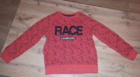 Bluza chłopięca 128 czerwona i szara
