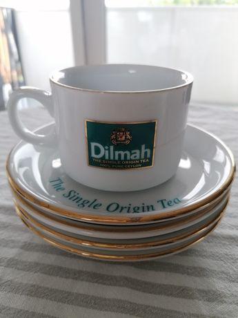Porcelanowe filiżanki do herbaty Dilmah - zestaw 4szt