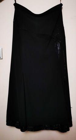 Czarna elegancka długa spódnica rozmiar 42