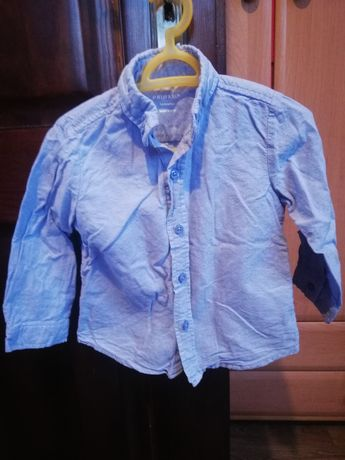 Koszula chłopięca błękitna rozmiar 92