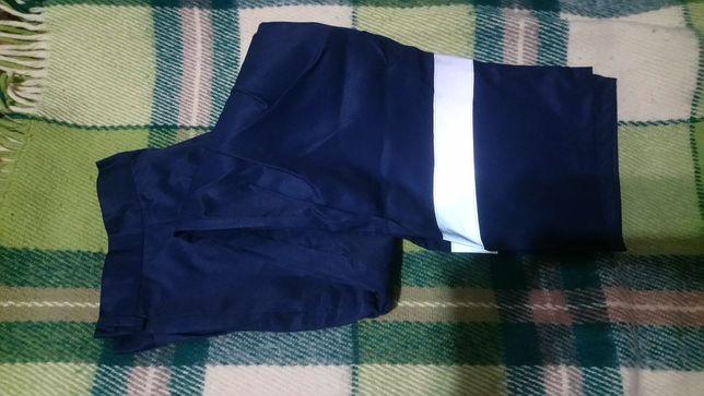 Спецодежда рабочие штаны синие светоотражающая лента