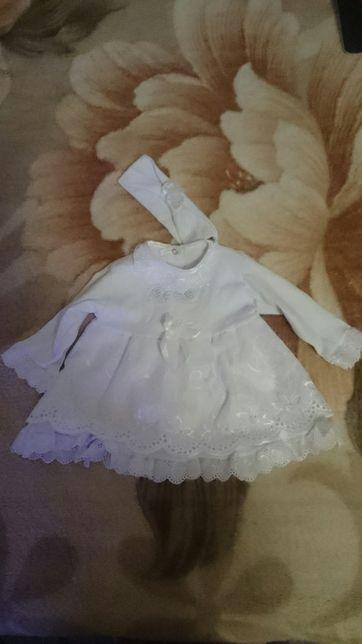 Платье для крестин на девочку 3 мес.