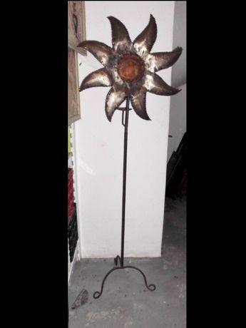 lindo, grande castiçal artesanal SOL em ferro trabalhado altura 159 cm
