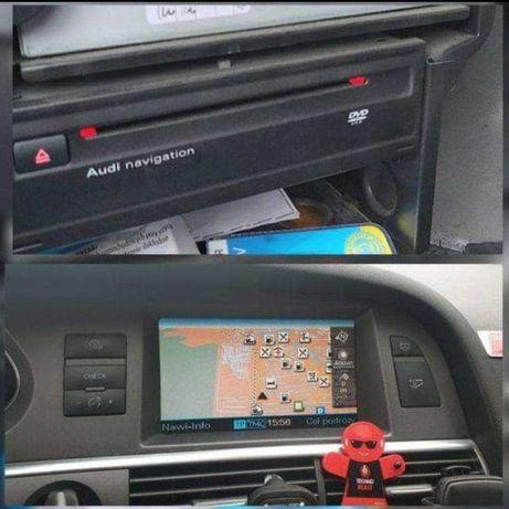 Audi MMI2G RNSE Q7 A6 A8 A4 bootloader nawigacja polskie menu