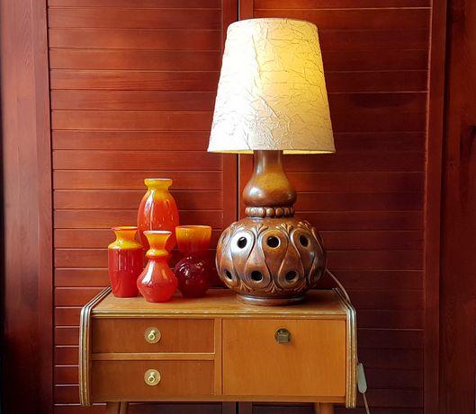 Ceramiczna lampa stołowa W. Germany New Look, lata 60/70-te, PRL