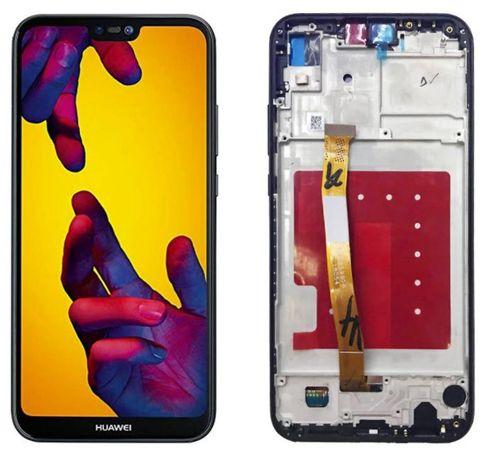 Ecra LCD completo c/ Frame p/ Huawei P20 Lite - Preto