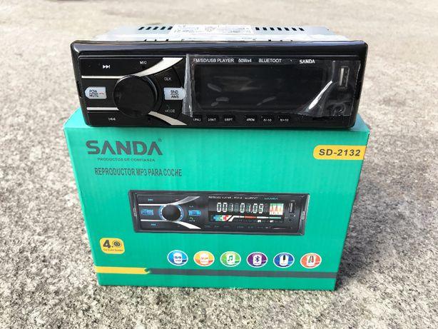 Auto Rádio Universal com Bluetooth / USB / Cartão SD / etc. - 1DIN