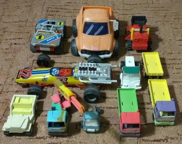Машинки СССР. 10 шт. Багги. Формула 1. Трактор. Кран.