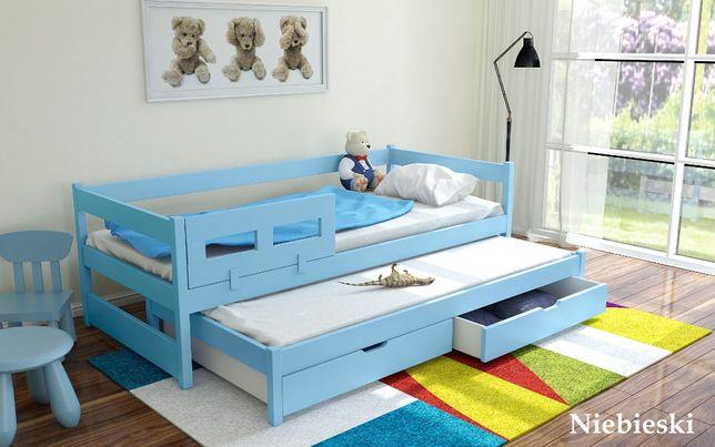Łóżko 2-poziomowe 200x90 TOMEK z materacami + barierka GRATIS