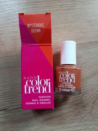 Zestaw dwóch lakierów Color Trend Avon - brązowy i śliwkowy