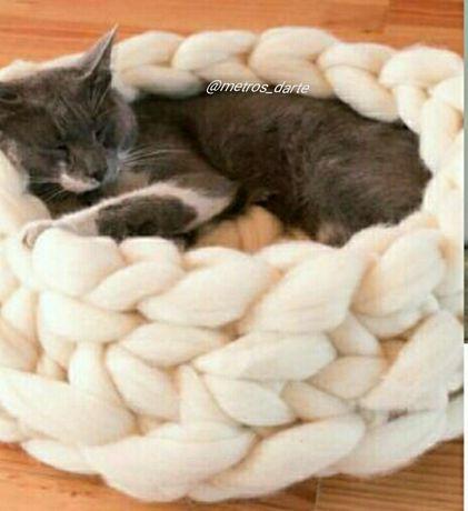 Caminhas animais lã merino feitas à mão