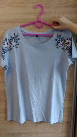 Nowy T-shirt damski z nadrukiem kwiatów Moodo M