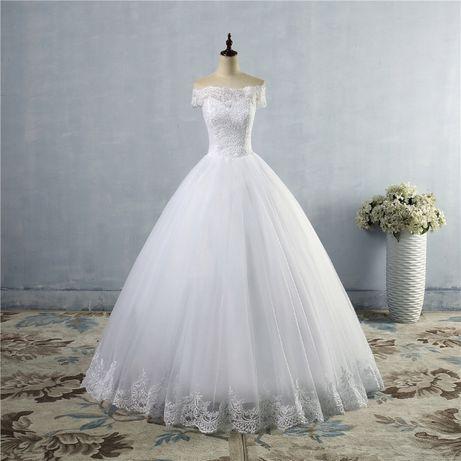 suknia ślubna princessa koronka wiązanie 44 XXL