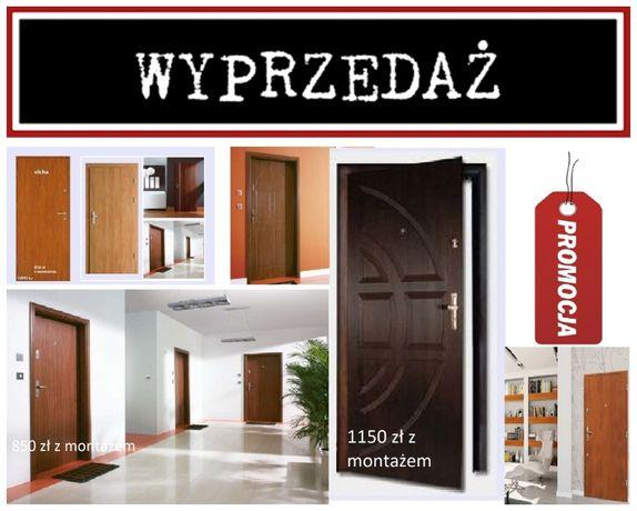 Drzwi do mieszkania w bloku WEWNĘTRZNE-zewnętrzne z MONTAŻEM