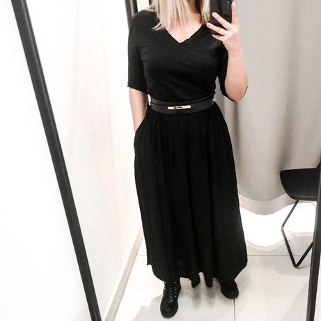 Sukienka długa czarna oversize