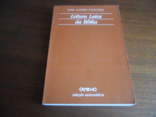 """""""Leitura Laica da Bíblia"""" de Mário Alighiero Manacorda"""