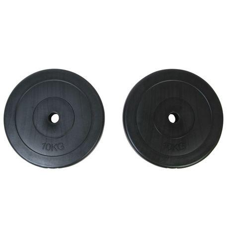 vidaXL Disco de peso 2 x 10 kg 90269