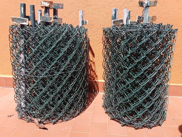 Vedação em rede plastificada