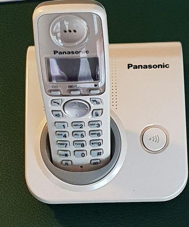 Aparat telefoniczny stacjonarny Panasonic kremowy