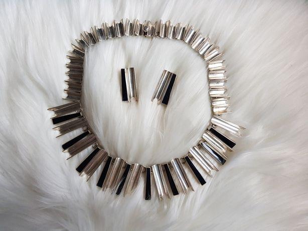 Srebrny komplet bizuterii kolia i kolczyki 925
