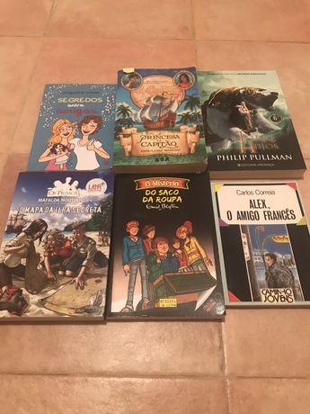 Livros juvenis variados - portes grátis!