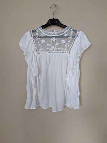 Bluzka biała New Look 36 S falbanki