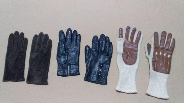 Перчатки женские,кожа,замша натуральная-нови,б/у-Max&Co-М