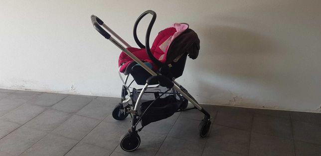 Carrinho BEBE Confort c/ Cadeira + cadeira passeio + Alcofa