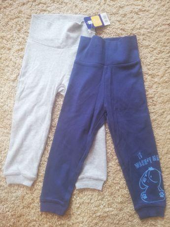 Spodnie dresowe niemowlęce chłopięce 86-92, 12-24 m zestaw 2 pary