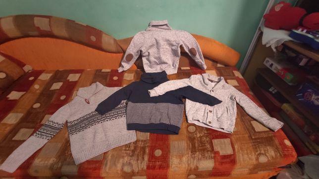 Sweterek, bluza, dwa sweterki rozpinane