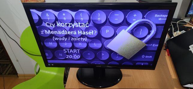 Monitor full HD 24 całe aoc dvi VGA LED 5ms