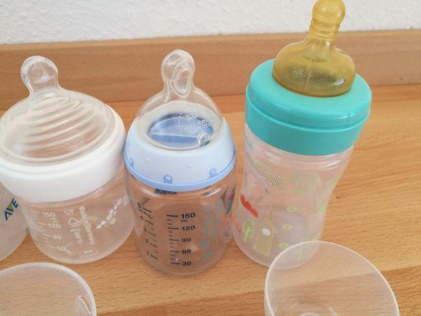 Бутылочки для кормления новорожденных NUK Chicco немного б/у,+пустышка