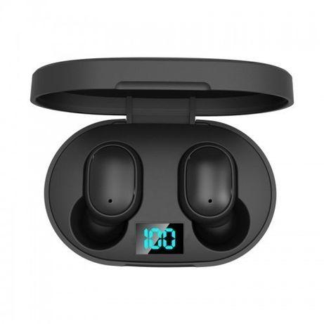 Беспроводные Наушники E6S с Led Дисплеем Bluetooth 5.1 Чёрные