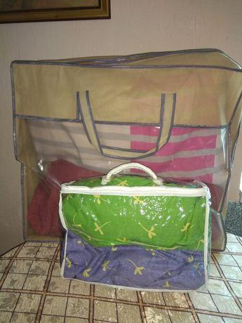 Упаковка, сумка с ручками на змейке для постельное белье.