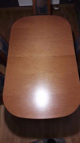 Zestaw stół + 6 x krzeseł drewno