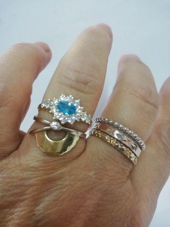 LAZUR tropikalnyc mórz bajkowy złoty pierścionek