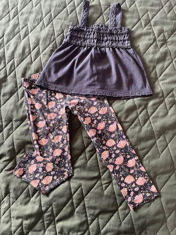 Spodnie Name It i top Pomp de lux, rozmiar 104